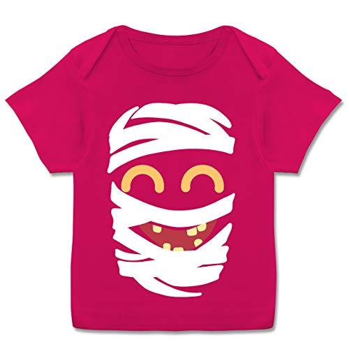 Mumie Mädchen Kids Kostüm - Karneval und Fasching Baby - Mumie Karneval Kostüm - 56-62 (2-3 Monate) - Fuchsia - E110B - Kurzarm Baby-Shirt für Jungen und Mädchen