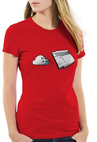 style3 Retro Blow Damen T-Shirt NES Cartridge 8-Bit, Farbe:Rot, Größe:XL