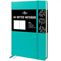 Stationery Island A5 Dotted Notebook - Teal. Hardcover Bullet Grid Journal With 180 Pages And Premium 120gsm Paper