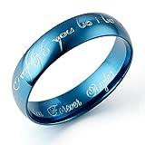 Gemini personalizada de el Señor de los hombres anillo de grabar de cúpula de color promesa de pareja de boda anillo de titanio de regalo del día de San Valentín para hombres, mujeres, parejas, Unisex x 6 mm