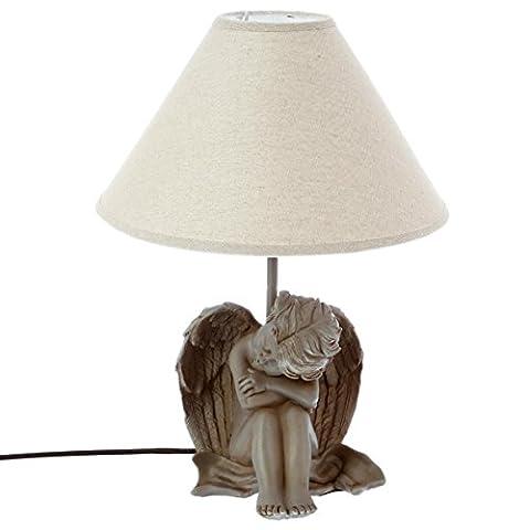 Lampe à poser - Décor Ange qui dort - Coloris GRIS TAUPE
