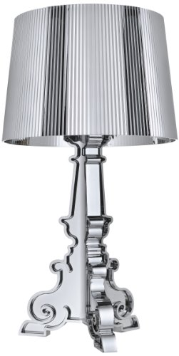 Kartell 907200 Leuchte Bourgie metallisiert, silber