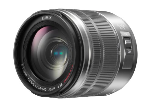 Panasonic H-FS14140E-K Superzoom-Objektiv Lumix G Vario 3,5-5,6/14-140mm Asph./Power OIS Grau Grey