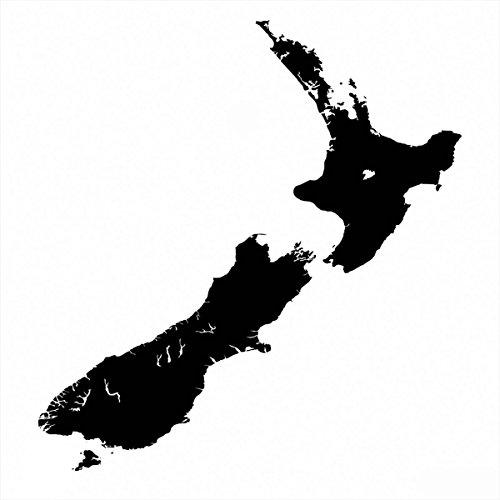 Preisvergleich Produktbild Neuseeland Aufkleber Inselaufkleber Autoaufkleber reflektierend oder matt, versch. Farben (ca. 15 cm) (15 cm x 15 cm, schwarz-reflex)