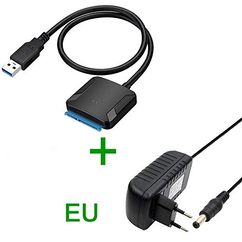 SUNDELLAO USB 3.0 to Sata Adapter Converter Cable USB3.0 Hard Drive Converter Cable for Samsung Seagate WD 2.5 3.5 HDD SSD Adapter, 0.2m3