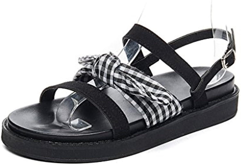 538f4a4324 Shi xiang shop shop shop Sandals s à Nœud Papillon  d'été Retro Flat Bottom Étudiant Fairy Rome  StyleB07D3MZ7F4Parent ...