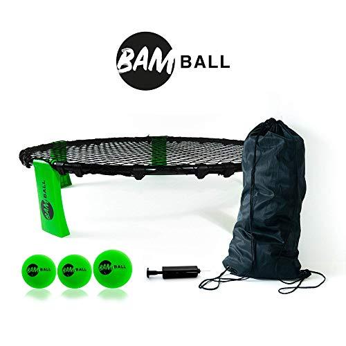 bamball-Set mit 3 Bällen + extra Pumpe - Das perfekte Sommerspiel - enthält 3 Bälle, Turnbeutel, Pumpe und Anleitung - Spiel für Kinder, Jugendliche und Erwachsene