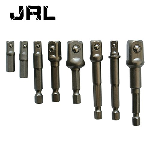 JRL 8 Hex Bohrer Socket Adapter Bit Mutter Treiber Power Extension Bar 1/10,2 cm 3/20,3 cm 1/5,1 cm