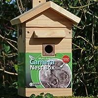 Cedar Bird Nest Box & Feeder with Colour Night Vision Camera with Audio - Multi Species Nest Box & Feeder Camera