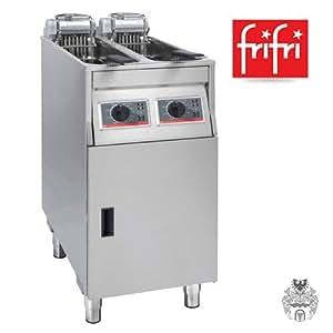 Frifri bASIC 422 2 x 9 x 11 l/2 kW friteuse acier inoxydable électro-pieds professionnelle