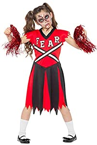 Karnival Costumes- Halloween Zombie Fearleader Disfraz, Multicolor, extra-large (84598)