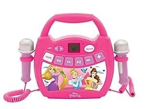 Lexibook- Disney Princess, Mi primer reproductor digital Bluetooth con 2 micrófonos, inalámbrico, función Grabar, efecto de cambio de voz, para niños a partir de 3 años, rosa, Color