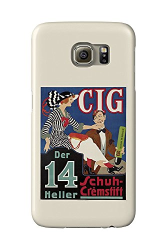 Cig Vintage Poster (artist: Ranzenhofer, Emil) Poland c. 1918 (Galaxy S6 Cell Phone Case, Slim Barely There)