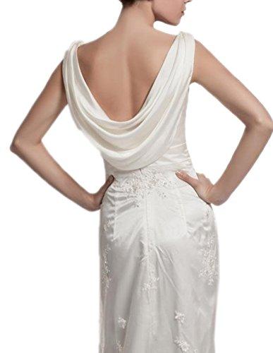 Ikerenwedding Damen Column Kleid Small elfenbeinfarben