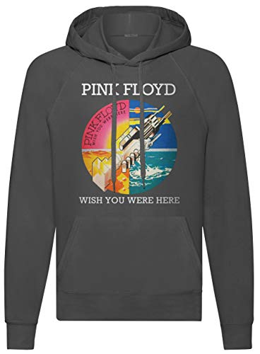 LaMAGLIERIA Sudadera Unisex Pink Floyd Wish You were Here - Sudadera con Capucha Rock Band, M, Gris