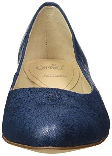 Caprice Damen 22107 Geschlossene Ballerinas Blau (OCEAN METALLIC)