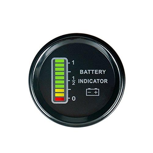 Runleader RL-BI011A LCD-Batterieanzeige BI011A, für 12, 24, 36 und 48Volt, für ATV- und UTV- Traktoren, Golfwägen, Reinigungsfahrzeuge, Gabelstapler und Club-Autos (36-volt-batterie Messgerät)