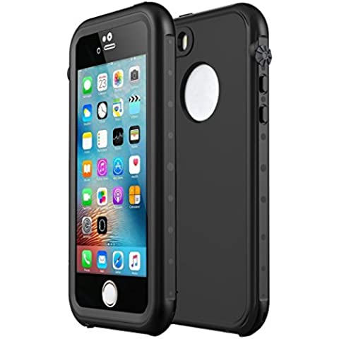 Sunwukin Protector Funda Impermeable para el Fundas iPhone 5S iPhone SE iPhone 5 Prueba de Choques, Prueba de Polvo, de Nieve y de Golpe, Protectora muy Resistente de Cubierta