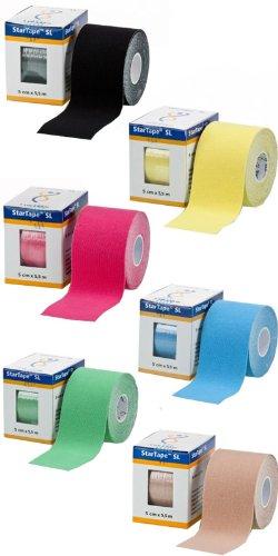 Star - Tape® SL Kinesiolgie-Tape - blau - L. 5,5 m x B. 5 cm. -