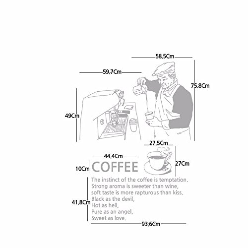 GYUHANLT Kaffee Lehrer Cafe Ein Westliches Essen Store Trinken Speichern Wasserdicht Restaurant Hintergrundpapier 100 * 130 Cm, Flach Grau Kreative Wand Aufkleber Mode Wandtattoos Umweltschutz Wandbild Dekoration Flugzeug Dekoratives Material Wallpaper