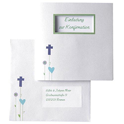 MyPaperSet Einladungskarten-Set 'Gottes Wiese' - 15 bedruckbare Karten zur Kommunion Konfirmation Taufe