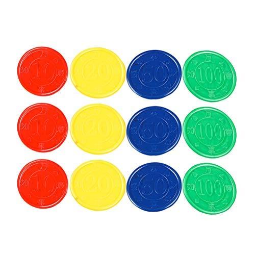 Toyvian Gettoni da gioco Contatori di plastica conteggio contatori Mini fiches da poker - 160 pezzi