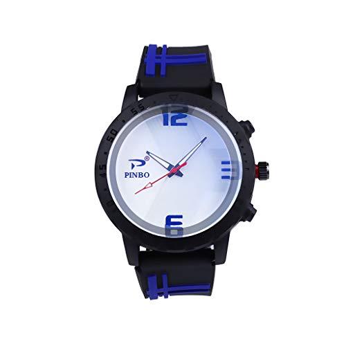 COOKDATE Digitaler Damen Herren Automatik mechanische Taschenuhr Bronze Retro Zahnrad Ritzel Mechanische Kettenuhr Skelett Uhr mit Halskette Kette Blau