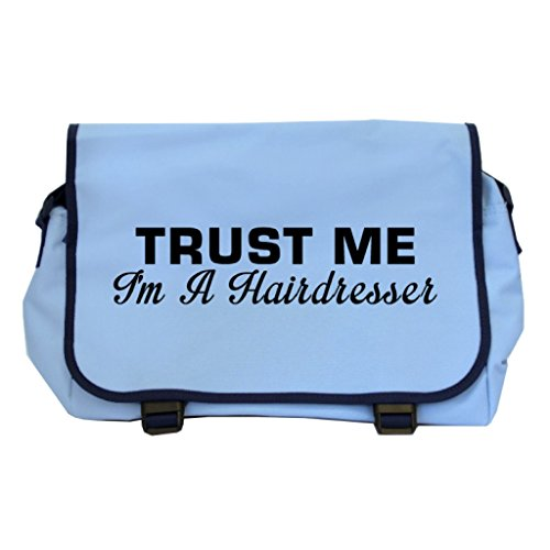 Price comparison product image Trust Me I'm A Hairdresser Messenger Bag - Sky Blue