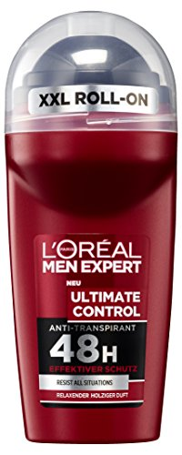 L'Oreal Men Expert Deo Roll-On, Ultimate Control Körperpflege, 6 x 50 ml