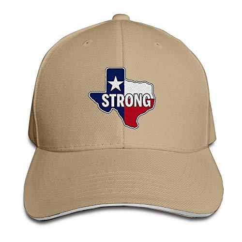 Naiyin Texas Strong Adults Embroidered Baseball Hat Sandwich Cap (Texas Halloween Arizona)