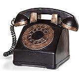 Pajoma 55162 Spardose retro Telefon mit Wählscheibe, aus Polyesin, 12 cm