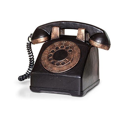 55162 Spardose retro Telefon mit Wählscheibe, aus Polyesin, 12 cm