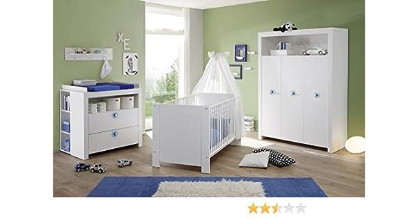 Babyzimmer Olivia Komplett Set In Weiss 5 Teilig Inkl Abnehmbarer
