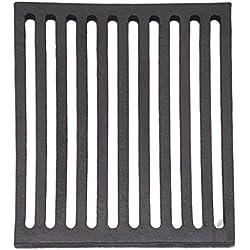 Four Grille Cheminée Four à grille grille en fonte pour poêle à bois Pierre Four Rectangulaire en Fonte–Dimensions: 250x 250mm