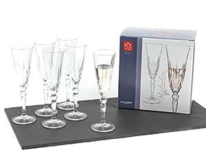 Plat décoratif en cristal RCR Melodia, Cristal, Lot de 6