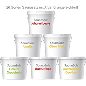 Premium Saunasalz (Salzöl) 500 Gramm Meersalz Peeling mit ÖL | Peeling Salz | Duschsalz | Sauna Salz Peeling |