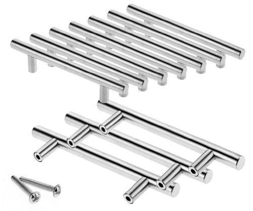 10x 96mm Edelstahl-Griff Möbelgriffe Stangengriff Für Different Tür Hause Büro