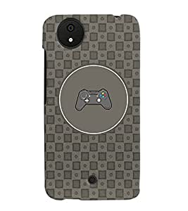 PRINTVISA Abstract Joystick Case Cover for Micromax Canvas Android A1