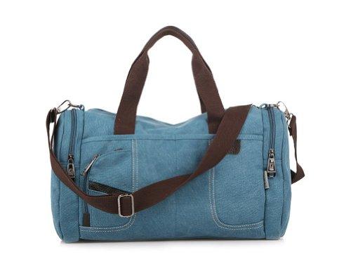 Tonwhar Portable en toile Vintage Sac à bandoulière sac de transport - bleu