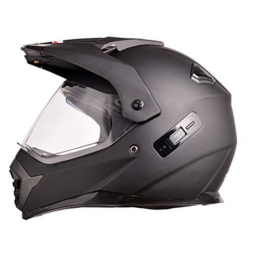 Double Lens Motorradhelm Männer Integralhelm Motorrad Reiten Abs Material Abenteuer Motocross Helm Outdoor Racing Schutzkappen - Abenteuer Motorrad-helm