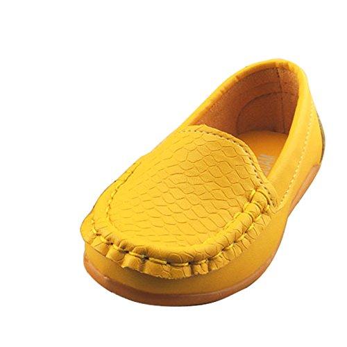 Gaorui Babyschuhe Kinder-Mokassin Krabbelschuhe Weiß Rot Gelb Slip-on Gelb