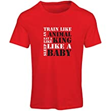 Camiseta Mujer Tren Duro - Citas de motivación de la Aptitud, Plan de Entrenamiento Diario