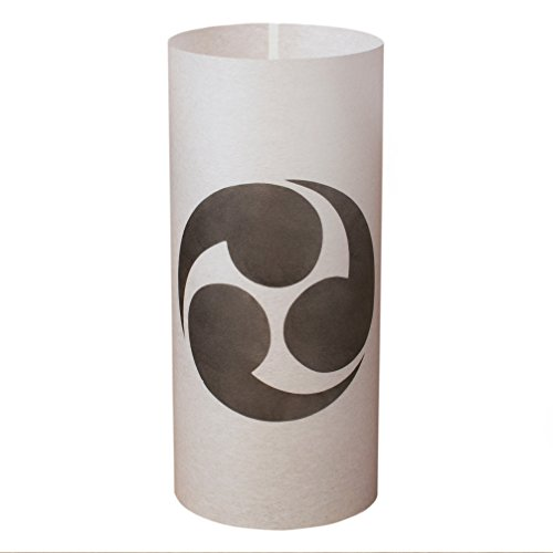 HIDARI MITSU DOMOE - Japanische Lampe Handgefertigt - Licht, Lampenschirm, Laterne, Shoji Lampe - Japanische Möbel - Asiatische, Orientalische Lampe (Shoji-laterne Japanische)