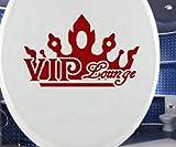 autocollants abattant WC VIP, Couvercle de Toilette Tatouage, Salle de bain toilette Autocollant, 3C091 - Or brillant, 25 cm