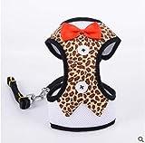 njhswlti Trägershirt Abendkleid Bogen Brust Rücken atmungsaktiv Mode Katze Hund Leopardenmuster, M