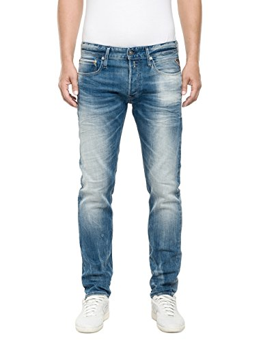 Replay Ronas-Pantaloni Uomo,    Blu (Blue Denim 10) W32/L32
