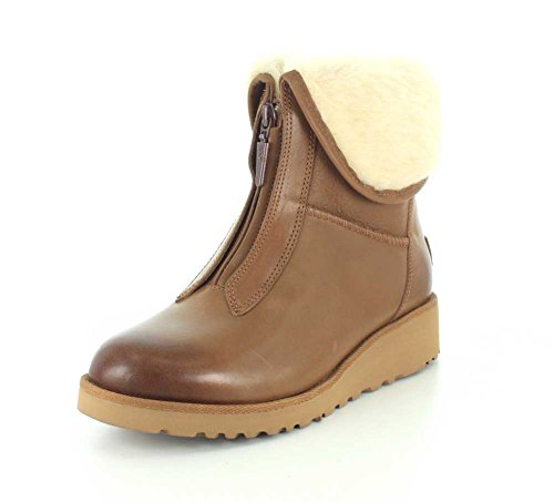 Ugg Australia Women's Caleigh Women's Leather Boots In Chestnut brown
