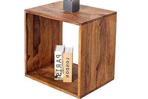 DuNord Design Regal Cubenregal JAKARTA 45cm Palisander Sheesham Massiv Regalwürfel Beistelltisch