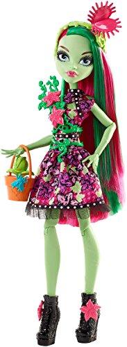 Monster High Mattel FDF14 - Partymode Monsterfreundin Venus Puppe, Ankleidepuppen-Zubehör (Monster High Party-taschen)