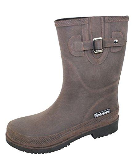 BOCKSTIEGEL® JETTE - Standard/K/KB Bottes de pluie courtes pour Femmes | Boucle latérale à la mode | Logo | Production européenne | Confortable KB brown / black